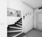 scala stile classico con pedata in pietra e parapetto laccato_design fc arredamenti