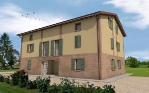 nuova costruzione edificio residenziale unifamiliare a reggio emilia, villa elvira