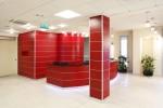 ufficio reception stile modeno con frontale laccato, design fc arredamenti