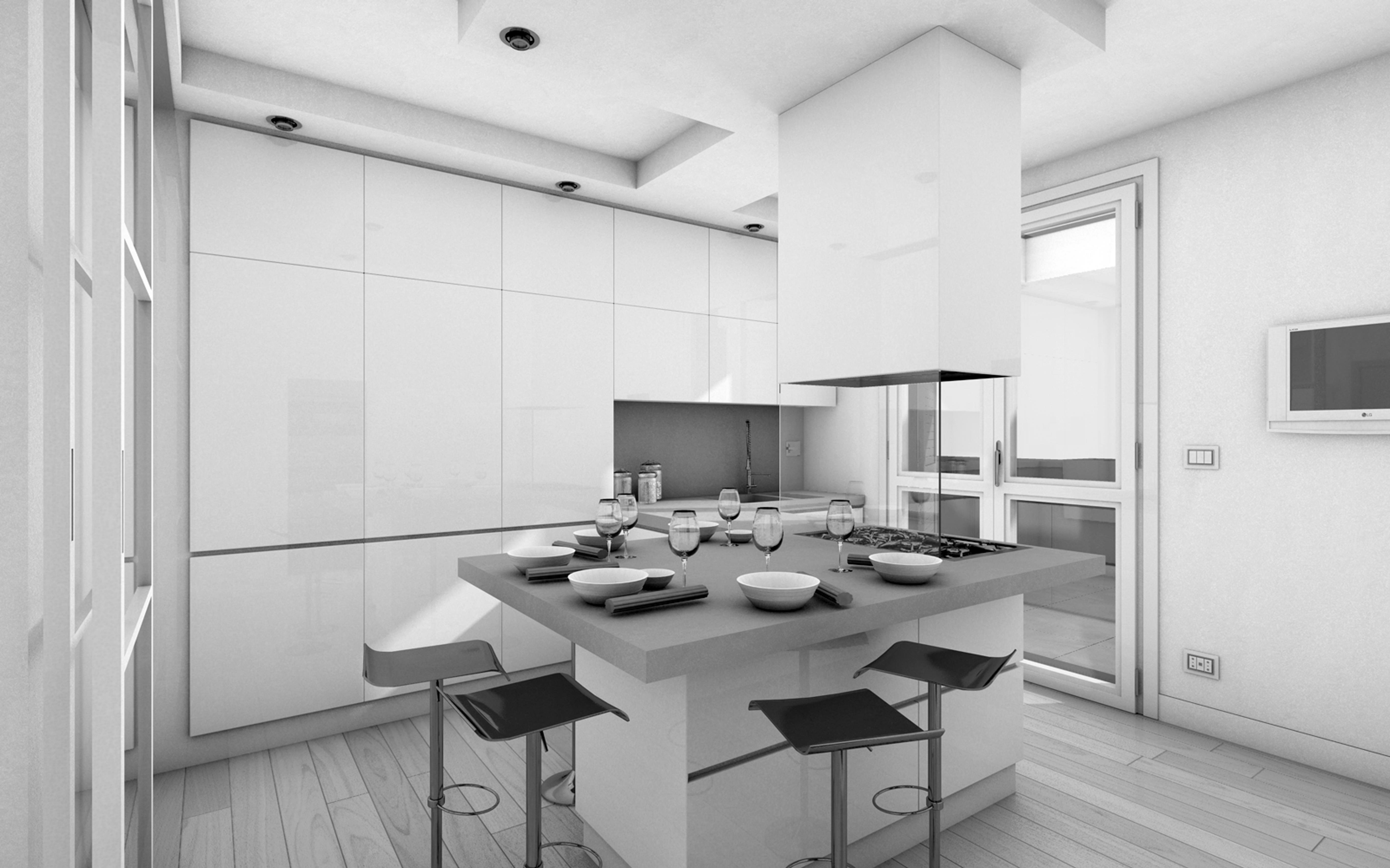 Cucine pensili perfect cucine moderna in legno su misura - Pensili per cucine ...