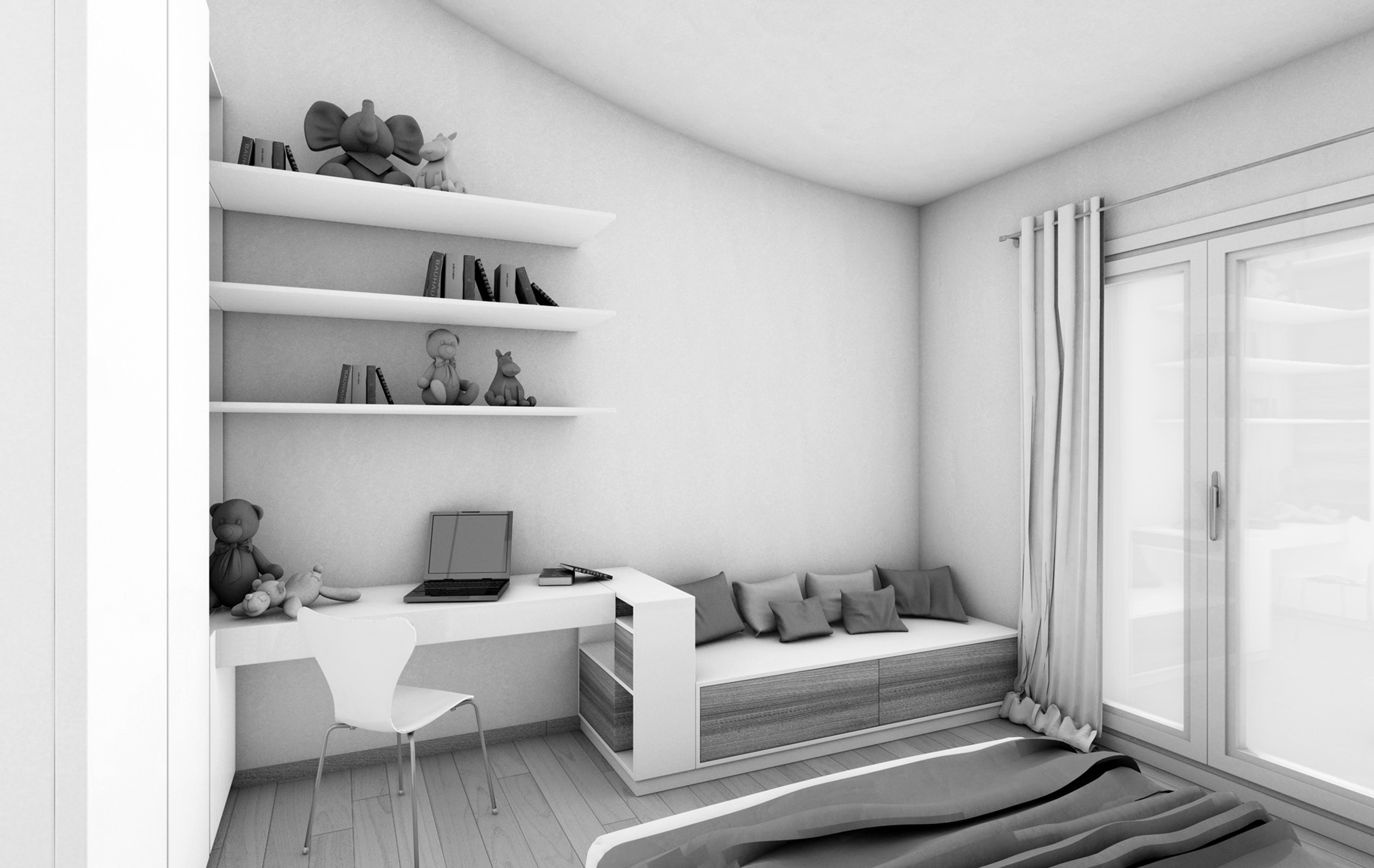 Scrivania design moderno per arredare un ufficio in stile - Scrittoio moderno design ...
