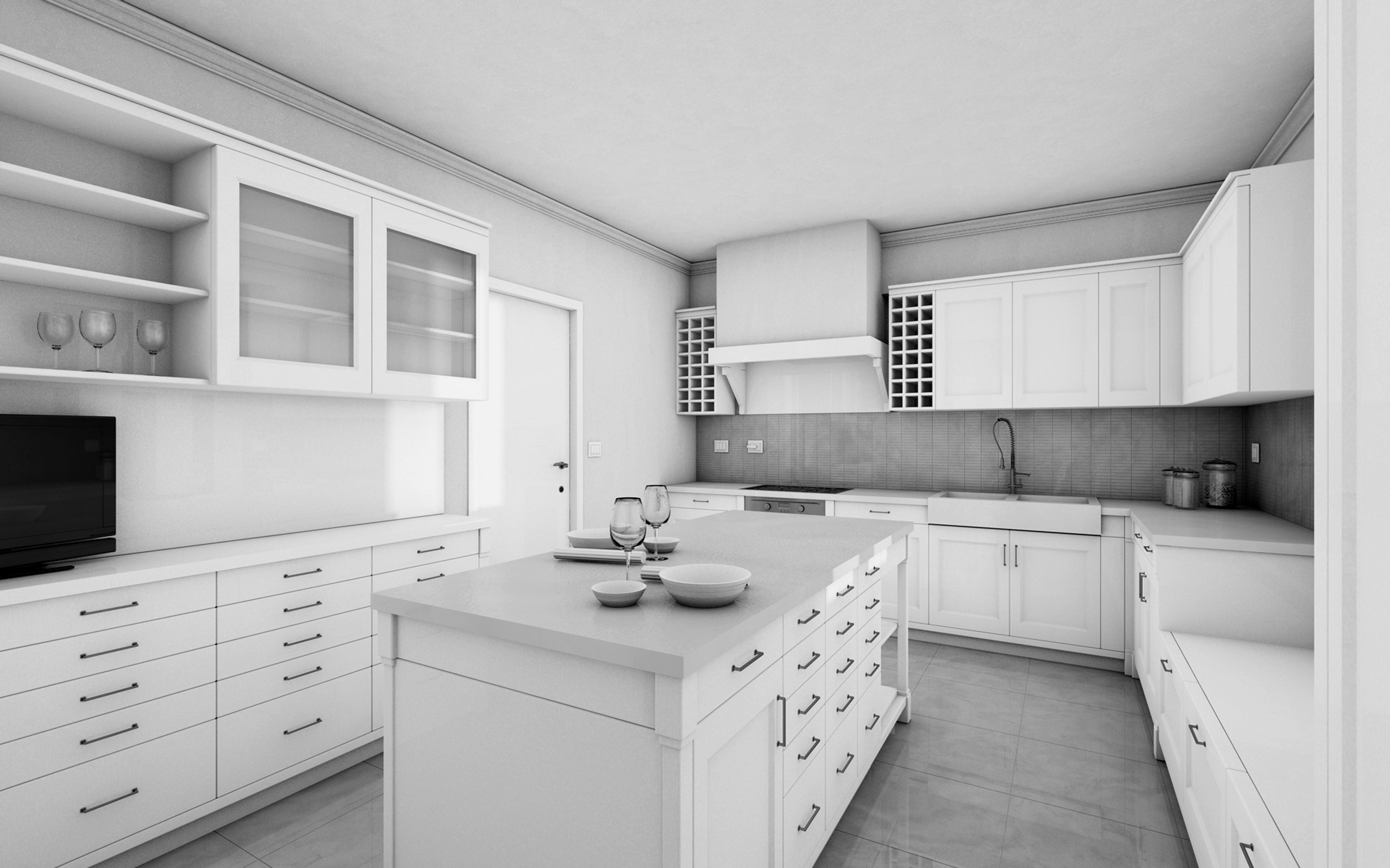 cucina soggiorno unico ambiente classico: cucina in legno colony ... - Arredamento Classico Fiorentino