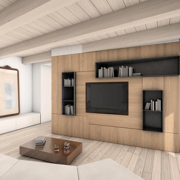 Mobili Soggiorno Design: Pareti attrezzate soggiorno foto design mag.