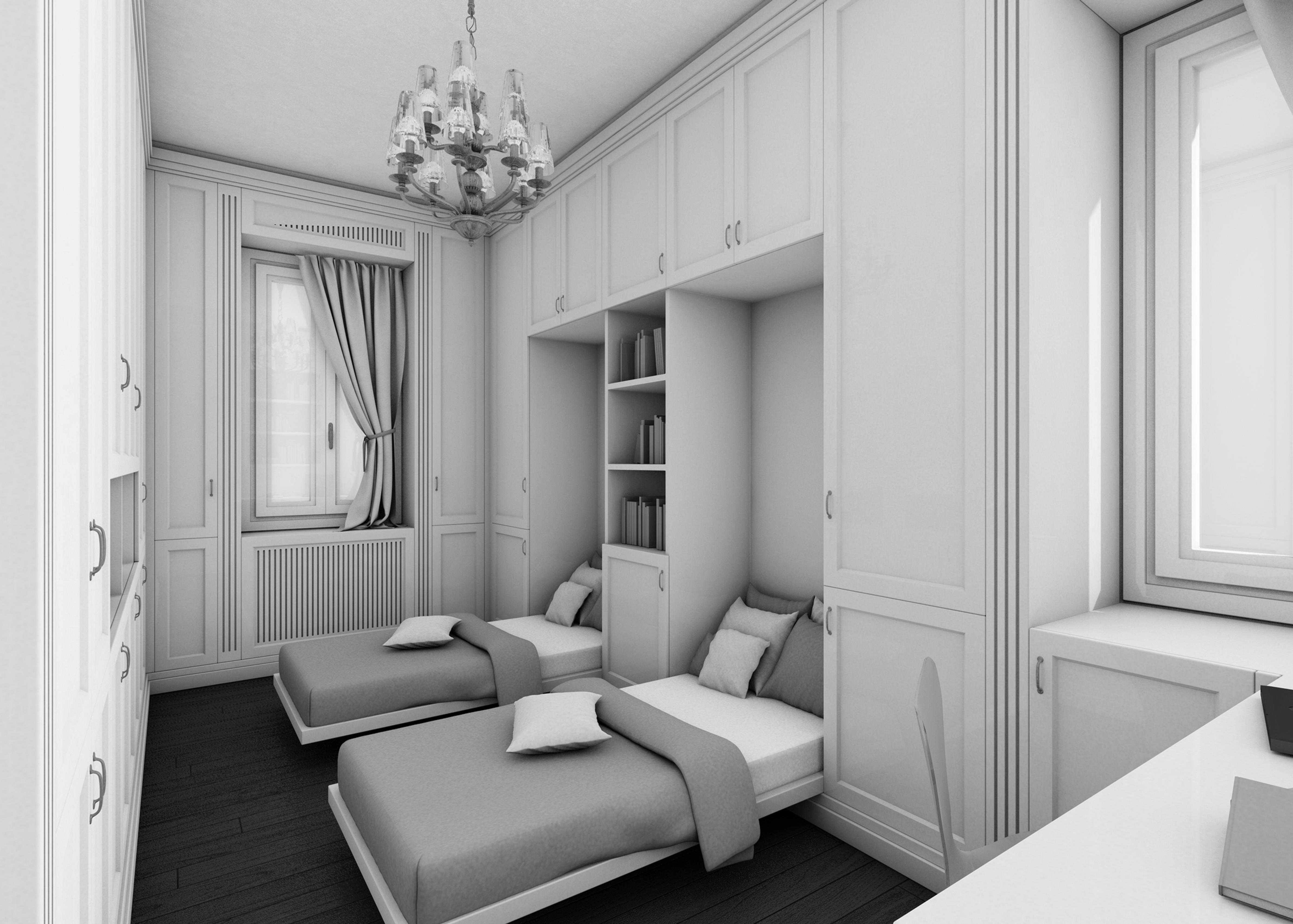 Camera da letto con armadio a ponte arredamento casa for Camera da letto in stile sud ovest