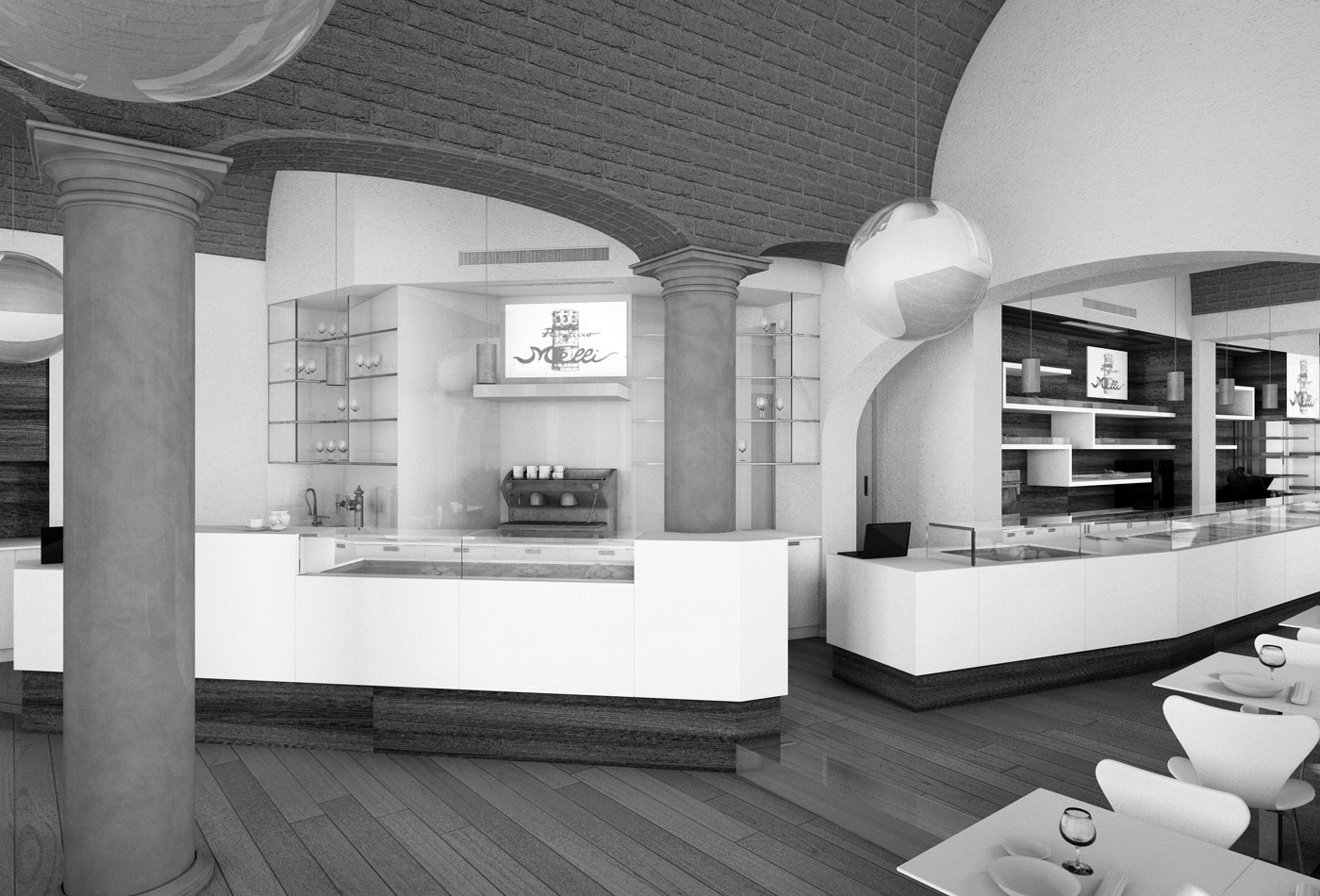 Arredo negozi dwg for Arredi bar moderni
