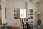porta scorrevole stile classico con modanature laccata design fc arredamenti